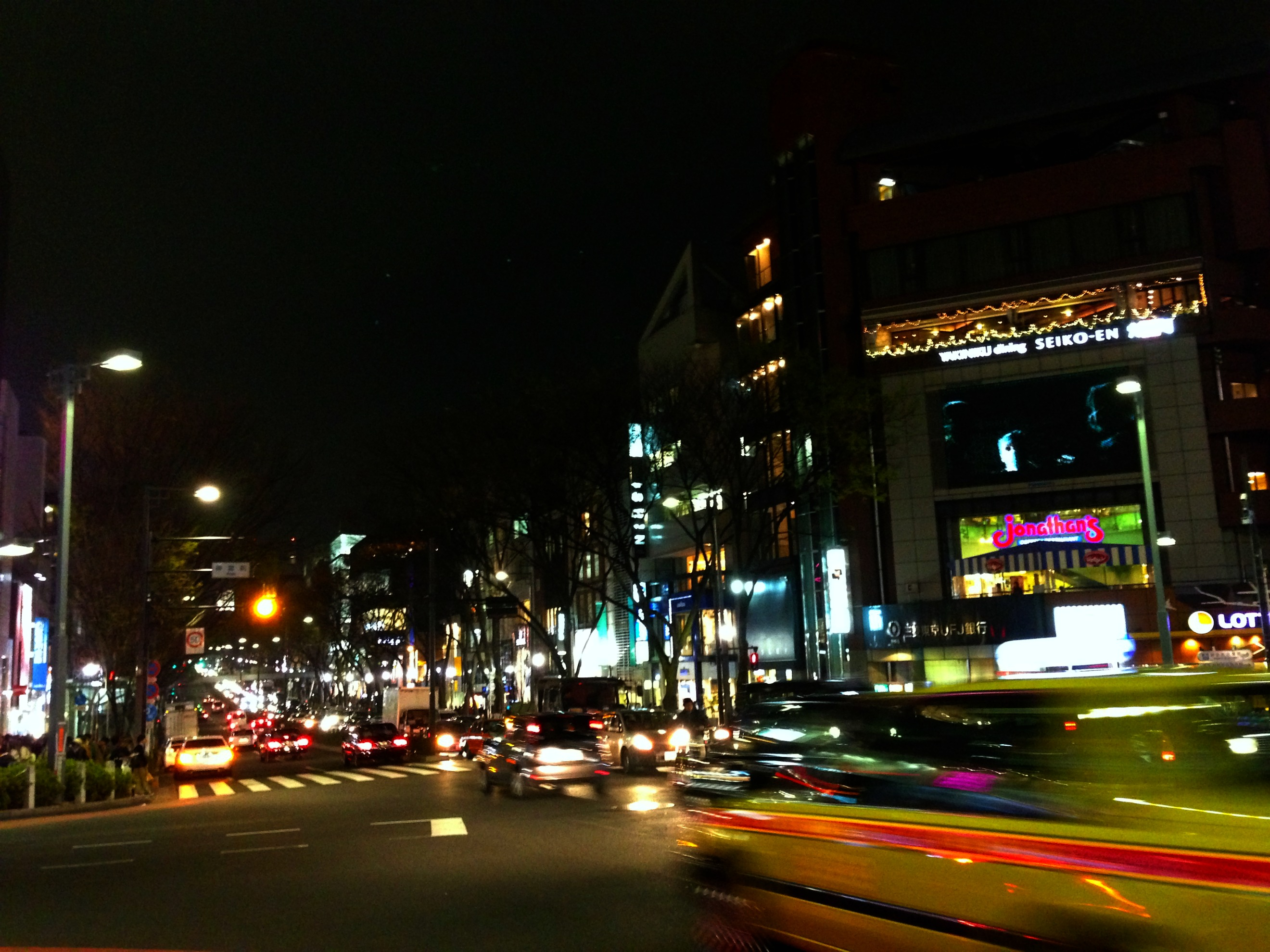taxi in nightime shibuya
