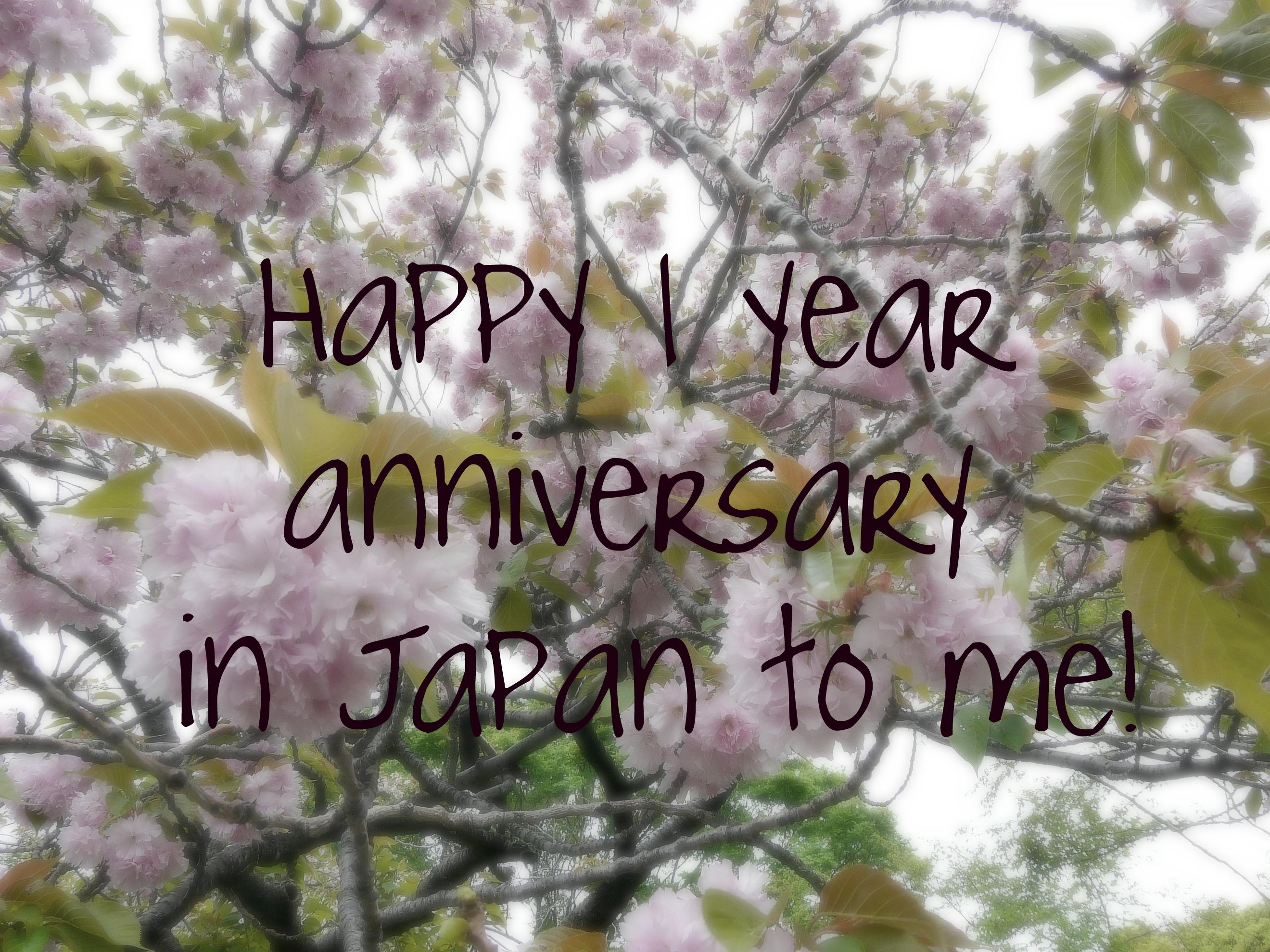 one yearanniversary
