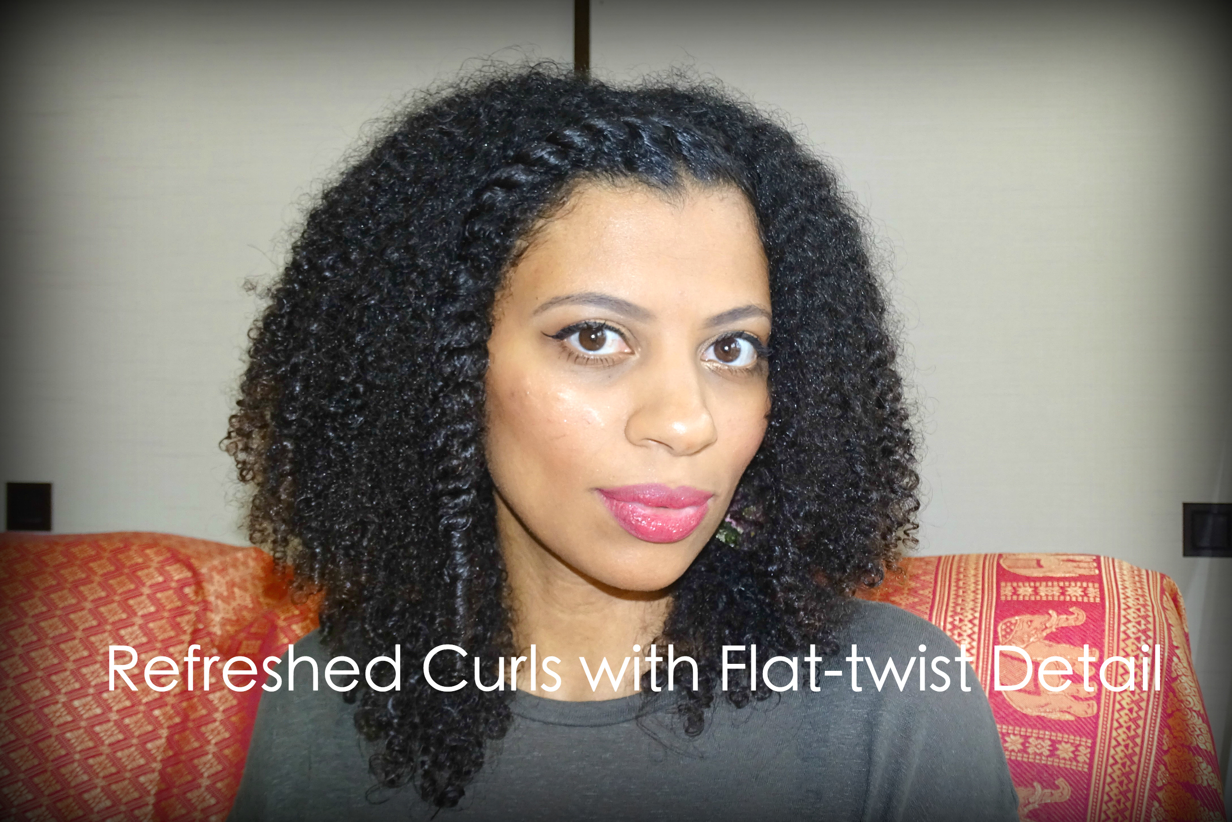 Eleanor J'adore - Refreshed curls with flat-twist detail on natural hair