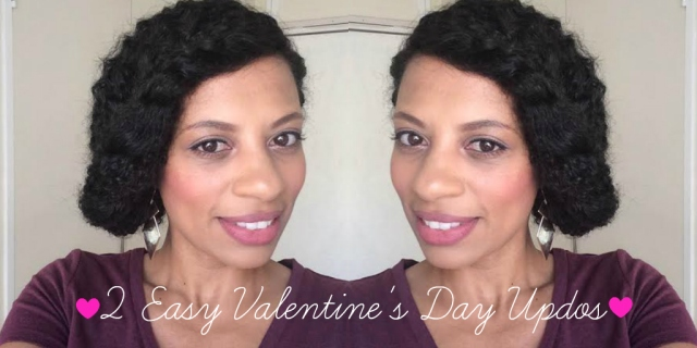 eleanorjadore - 2 Easy Valentine's Day Updos